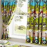Farmyard Pencil Pleat Curtains : 66x54'/168x137cm