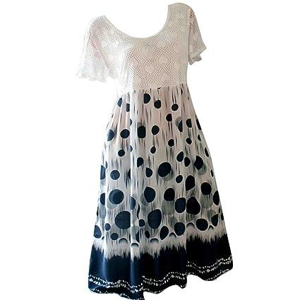 vestido de mujer, talla grande, estampado floral Mini vestido O ...