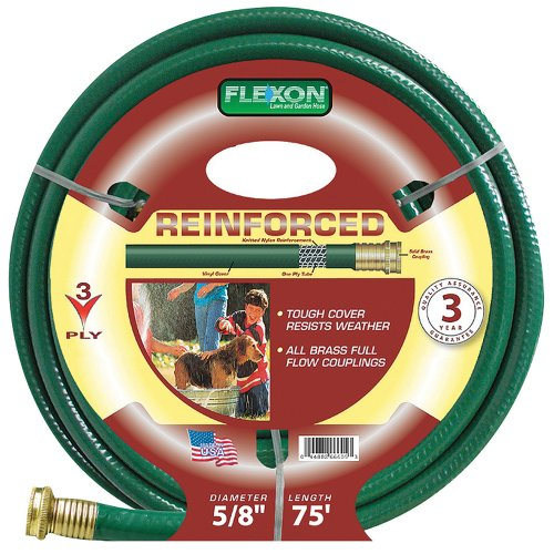 Flexon FR5875 5/8-Inch x 75-Foot 3-Ply Light Duty Garden Hose by Flexon