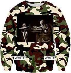 ZURIC Man Spring Clothing Kanye West Sweater Hoodies Camouflage Camo
