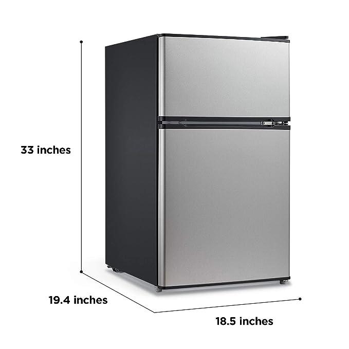 Midea refrigerador y congelador compacto reversible de doble ...