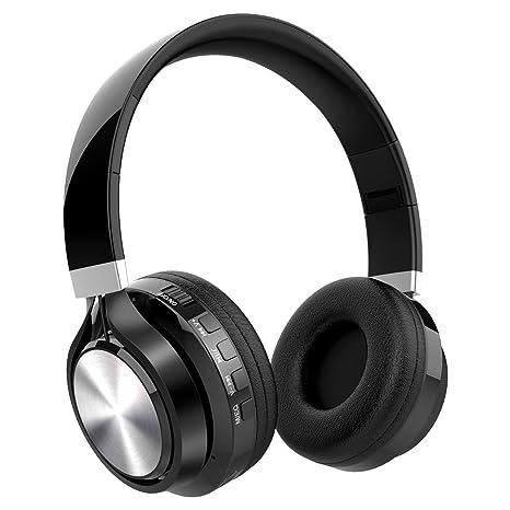 Auriculares Diadema Auriculares Bluetooth Inalámbricos, NickSea Auriculares Plegables con Función 4 en 1 Cascos Bluetooth
