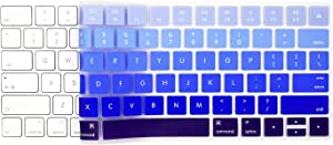 EooCoo Magic Keyboard Cover Skin Protector, Fit for Apple iMac Magic Keyboard MLA22LL/A A1644 - Gradient Blue Silicone