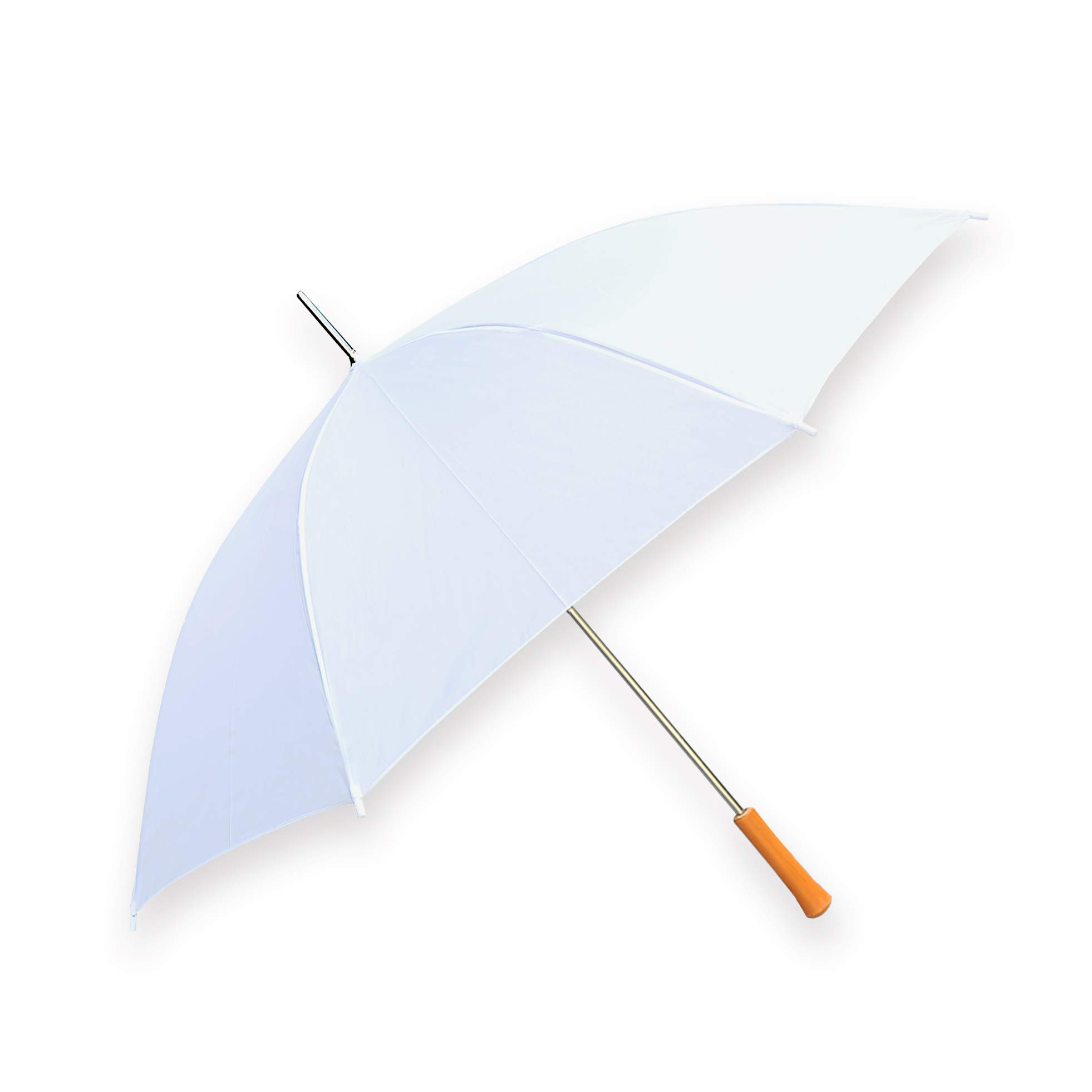 """Barton Outdoors Rain Umbrella - White - 48"""" Across - Rip-Resistant Polyester - Auto Open - Light Strong Metal Shaft and Ribs - Resin Handle - Perfect for 1 Person"""