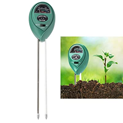 Soil Tester, 3 in 1 Horticultural Detector, Soil pH Meter, Soil Moisture Meter, Light Intensity Tester, Gardening Tools for Plant, Lawn, Farm, Indoor & Outdoor, Easy Read Indicator (No Battery needed) : Garden & Outdoor