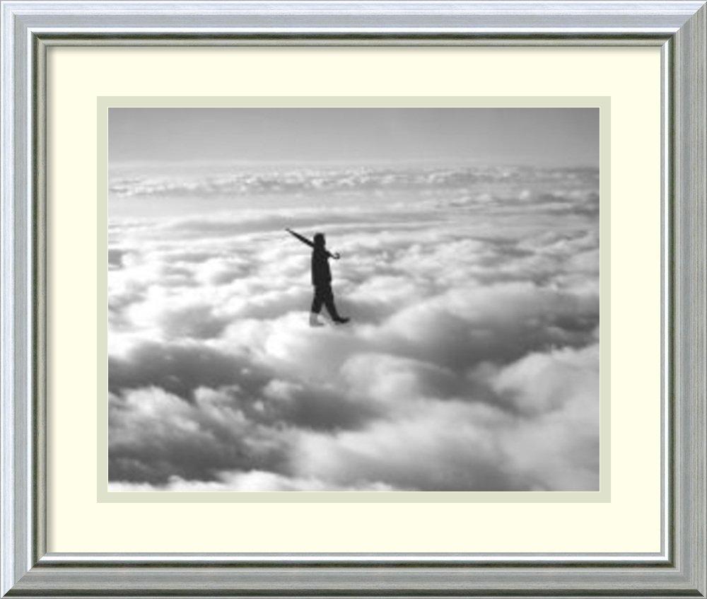アートフレーム印刷' Walk in the Clouds ' by Urban Cricket Size: 20 x 17 (Approx), Matted グレー 2364660 Size: 20 x 17 (Approx), Matted Warm Silver Swoop,mat:white B0133D0NKM