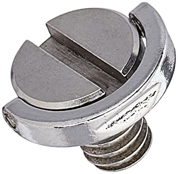 Yosoo 2ST 0.64 cm de tornillo con material de acero inoxidable para trípode/monopié/zapata rápida/cámara de tornillo