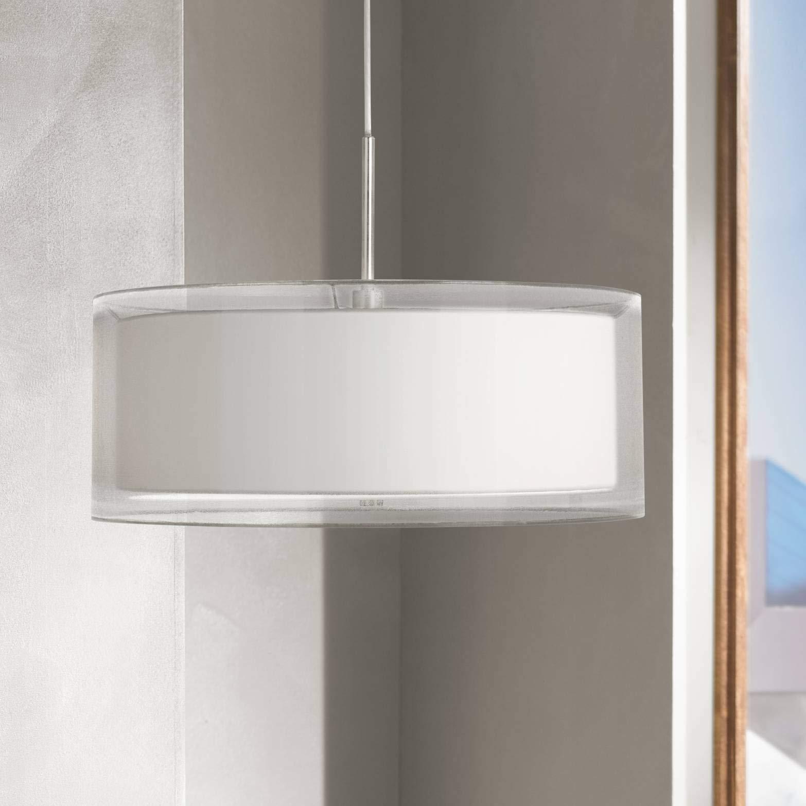 Possini Euro Double Drum 20'' Wide White Pendant Light - Possini Euro Design by Possini Euro Design