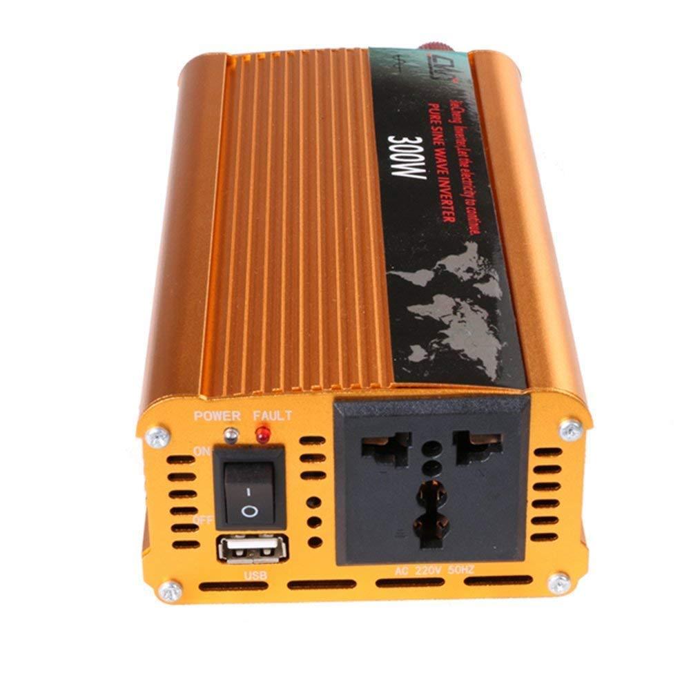 Tellunow 300W Wechselrichter 12 V DC Zu 220V 230V AC Konverter Reine Sinus-wechselrichter Mit F/ür Auto Reise