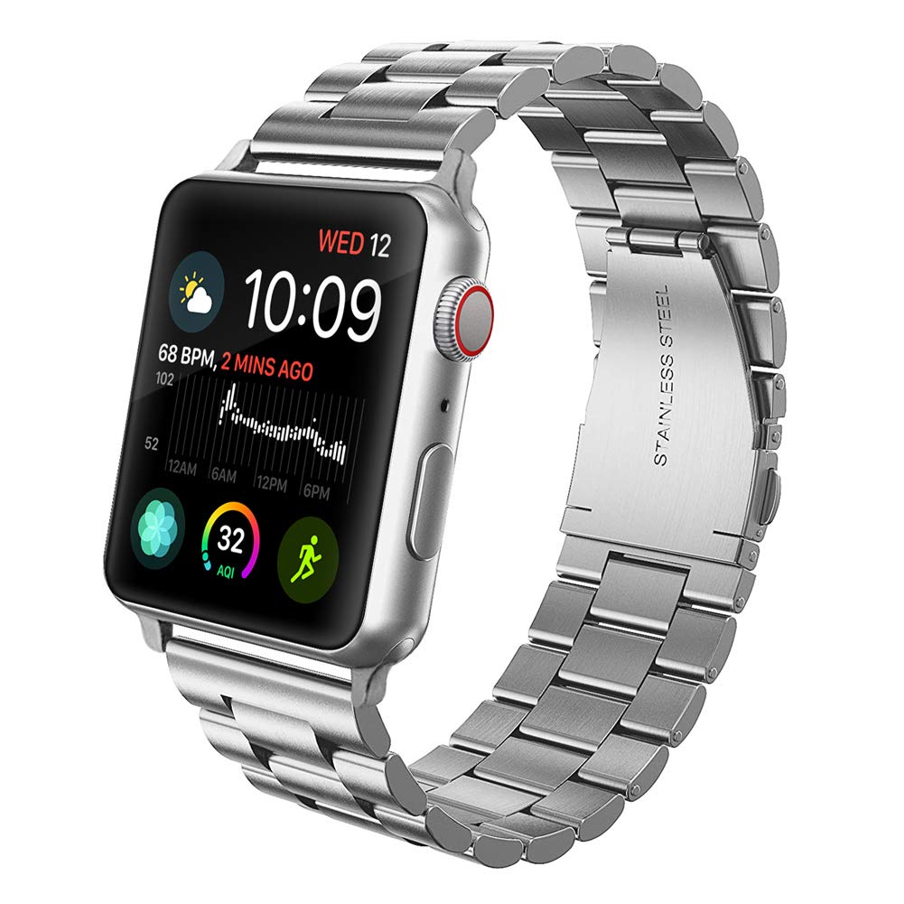 Premium Stainless Steel Metal Replacement Band for Apple Watch