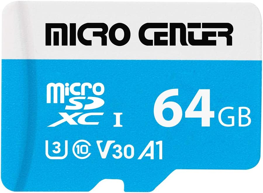 Micro Center Premium 64GB microSDXC Card UHS-I Flash Memory Card C10 U3 V30 4K UHD Video A1 Micro SD Card with Adapter (64GB)