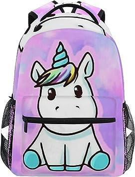 Mochila Ahomy Unicornio mochila escolar para niñas niños y mujeres, ideal para viajes de día: Amazon.es: Equipaje