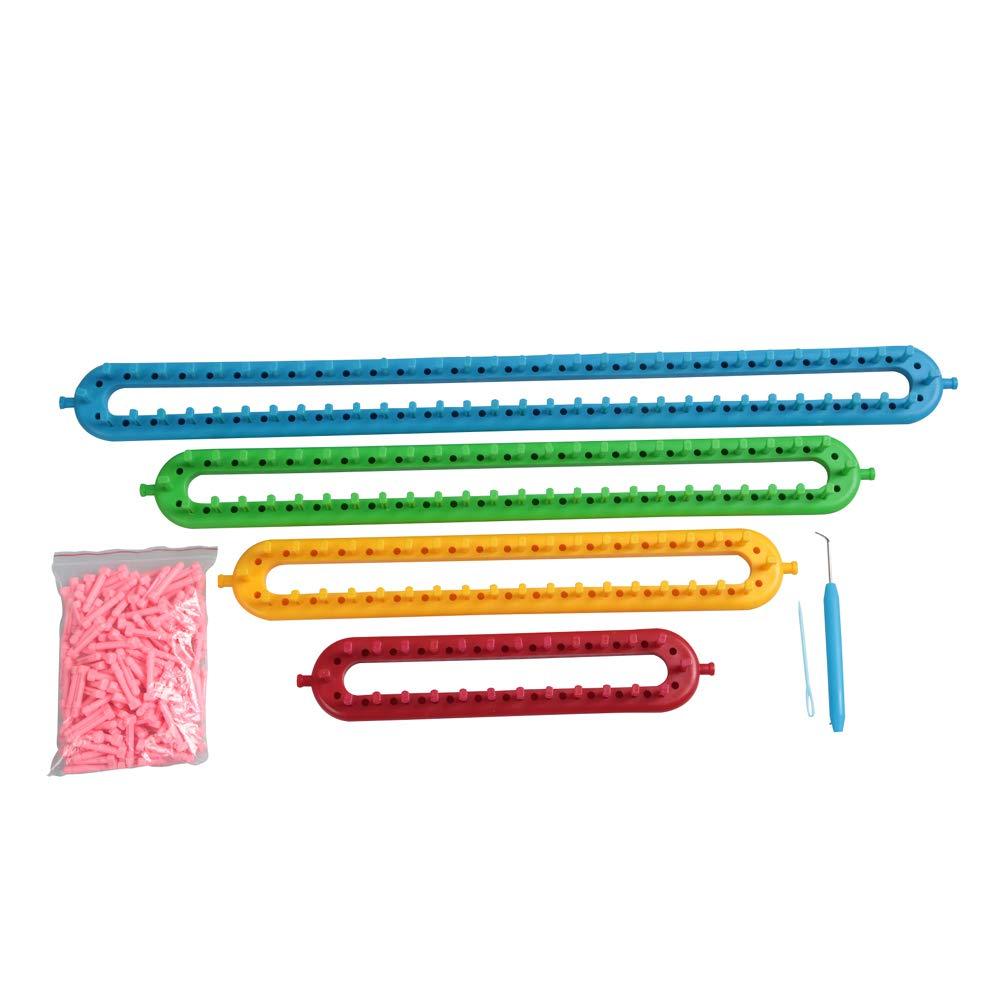 New Version Round Knitting Looms Set Craft Kit Tool with Hook Needle & Extra Peg (4sizes Set)
