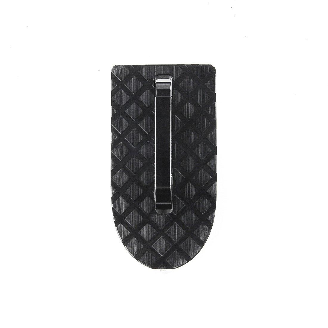 Pestillo de Puerta con Gancho en Forma de U con funci/ón de Martillo de Seguridad Escalera Plegable para Coche SUV Techo multifunci/ón negro brillante