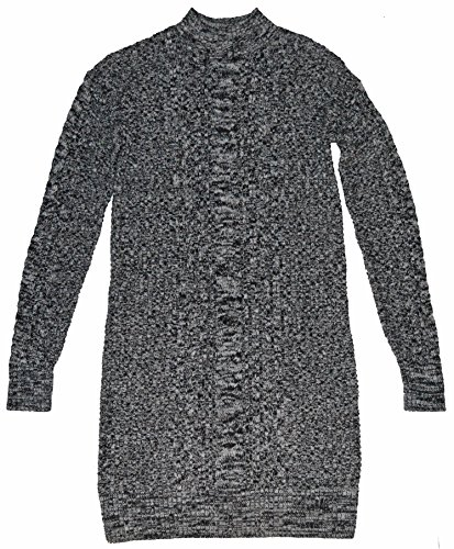 GAP Womens Charcoal Gray Mockneck Cable-Knit Sweater Dress Small ()