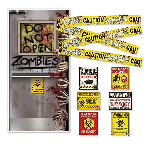FAKKOS Design Zombie Party Supplies Decoration Set