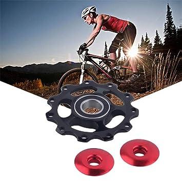 xiaohan - Rueda Trasera de Aluminio para Bicicleta con polea de guía de Cambios 11T: Amazon.es: Deportes y aire libre