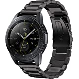 V-MORO Compatible with Galaxy Watch 42mm Bands Black 20mm Solid Stainless Steel Strap for Galaxy Watch 42mm/Gear Sport Smartwatch/Samsung Galaxy Watch Active 40mm Smartwatch