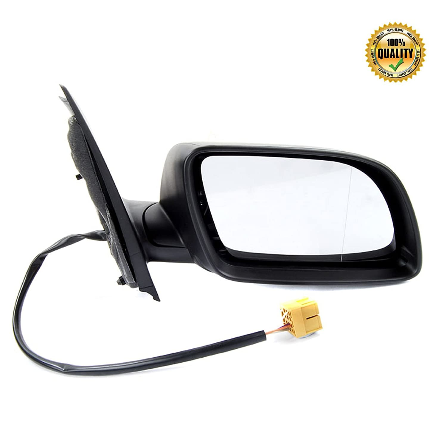 2002-2005 ELECTRIC HEATED WING MIRROR BLACK COVER DRIVERS SIDE