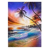 wonCacrostrans Diamond Painting, spiaggia paesaggio DIY 5D Full Diamond Painting ricamo a punto croce artigianato