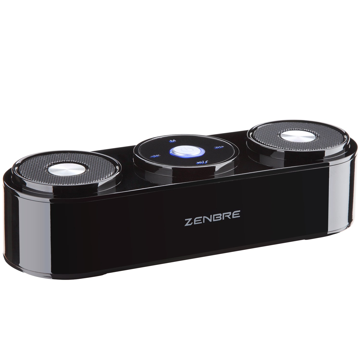 Bluetooth Speakers, ZENBRE Z3 10W Wireless Computer Speakers with 20h Playtime, Portable Speaker with Dual-Driver Enhanced Bass Resonator (Black) by ZENBRE (Image #2)