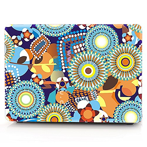 HRH Blooming Gorgeous Flowers Design Laptop Body Shell Protective Rubberized Hard Case for 15.4