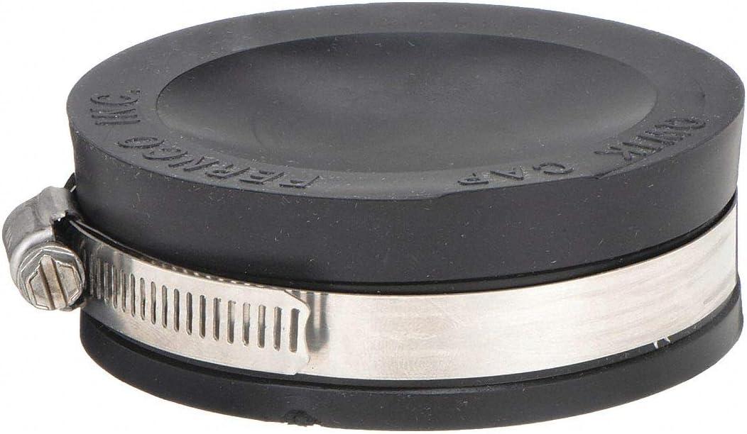 PQC-106 Qwik Cap Fernco Inc Black 6-Inch