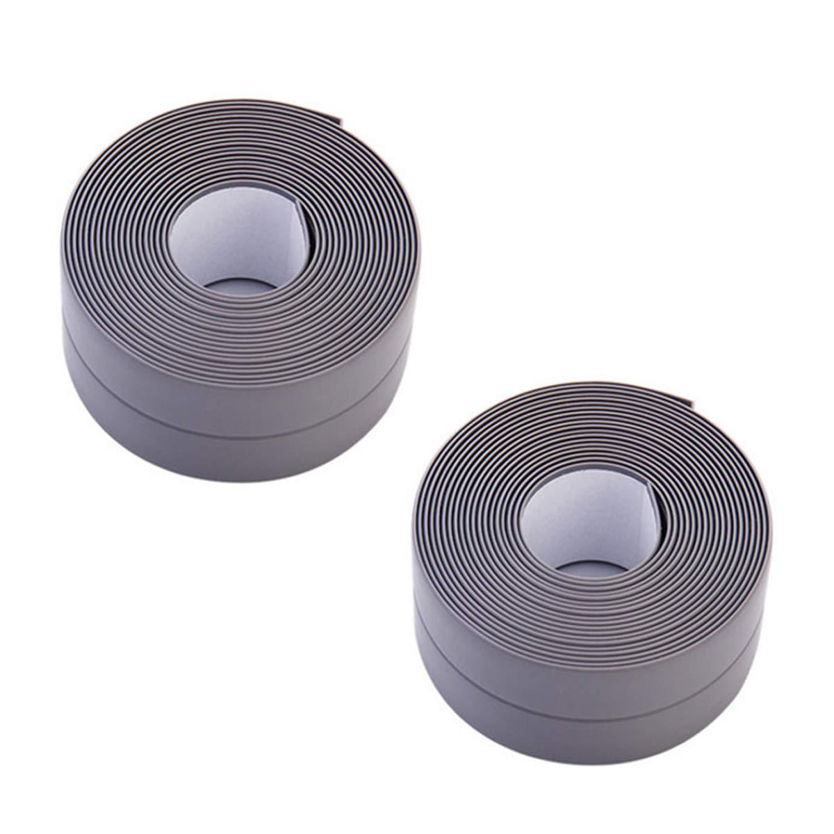 Donnagelia - Cinta autoadhesiva de PVC para sellado de pared para inodoro de cocina, de 320 cm x 3,8 cm, blanco