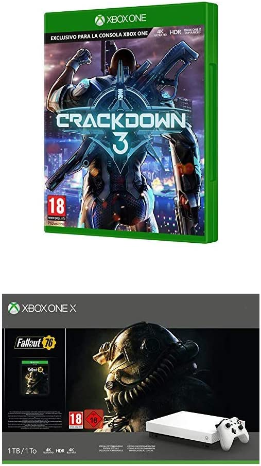 Xbox One X - Crackdown 3 + Consola 1 TB, Color Blanco + Fallout ...