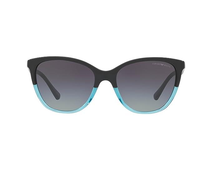 Emporio Armani 0EA4110 Gafas de sol, Black/Azure, 55 para ...