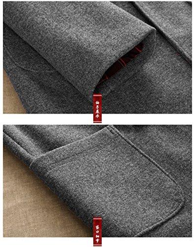 Wool High-end Tang Suit Medium Long Coats National Costume Characteristic Dress Retro Jackets Coats Men's Dress Full Dress by BAOLUO-Tang Suit (Image #3)