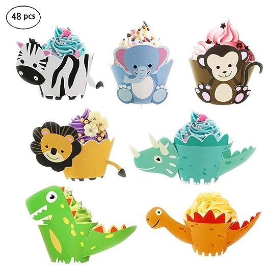 Envoltorios para cupcakes de animales, decoraciones para ...
