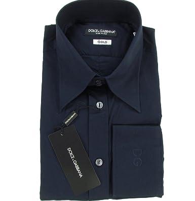 4940c1087832 Dolce   Gabbana D G GOLD Slim Fit Stretch 1O homme chemise habillé avec  manches longues (