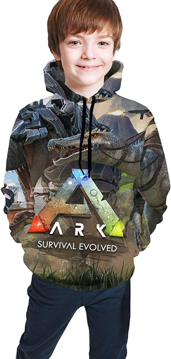 Ark Survival Evolved Kids Youth Casual Pullover Hoodie Hoodies Hooded Sweatshirt for Teen Boys and Girls
