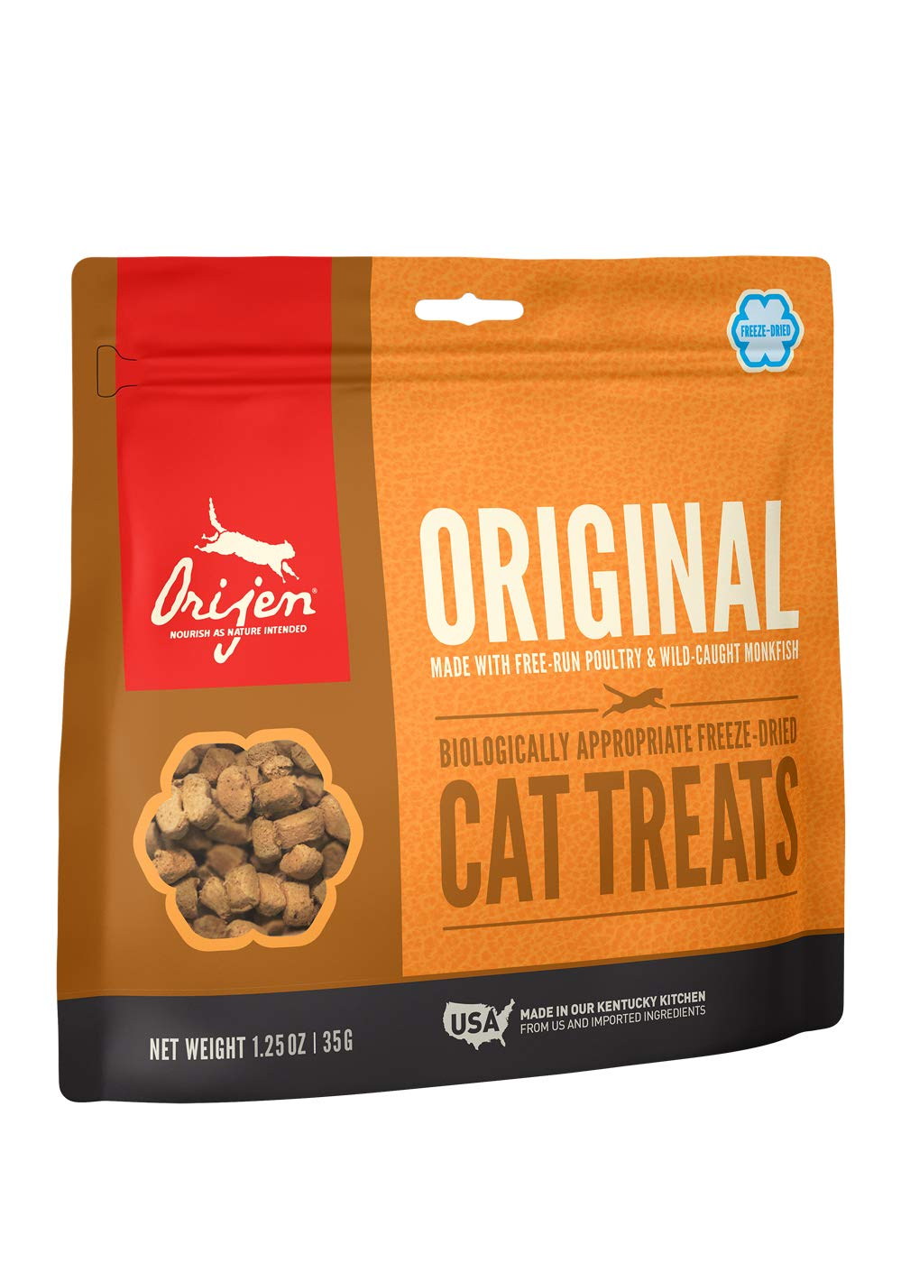 ORIJEN High-Protein, Grain-Free, Premium Quality Meat, Freeze-Dried Cat Treats