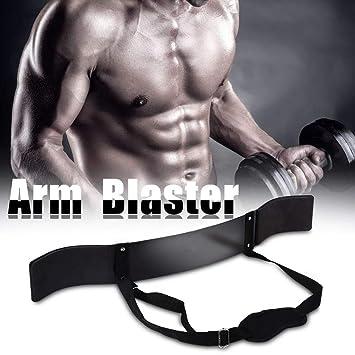 Biceps Aislador Generador de Músculos del Brazo Herramienta de Entrenamiento de Barra de Pesas Arm Curl, Correa Ajustable, Negro: Amazon.es: Deportes y aire ...