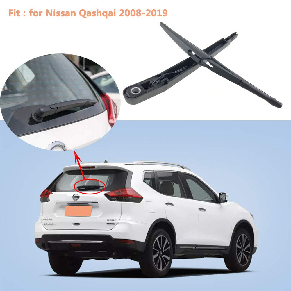 YTGOOD Autopartes Limpiaparabrisas Brazo del limpiaparabrisas Trasero del limpiaparabrisas para Nissan Qashqai 2008-2019