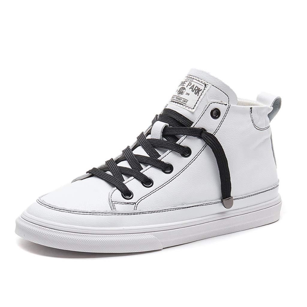 Frauen Schnüren Sich Hohe Schuhe Mode PU Leder Turnschuhe Flache Schuhe Der Frauen (Farbe   Weiß größe   37)