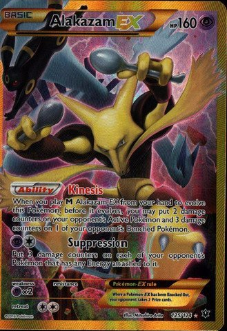 Alakazam Pokemon Card - Pokemon - Alakazam-EX (125/124) - XY Fates Collide - Holo