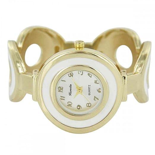 Reloj mujer Sonora Clip Acero Dorado camelia