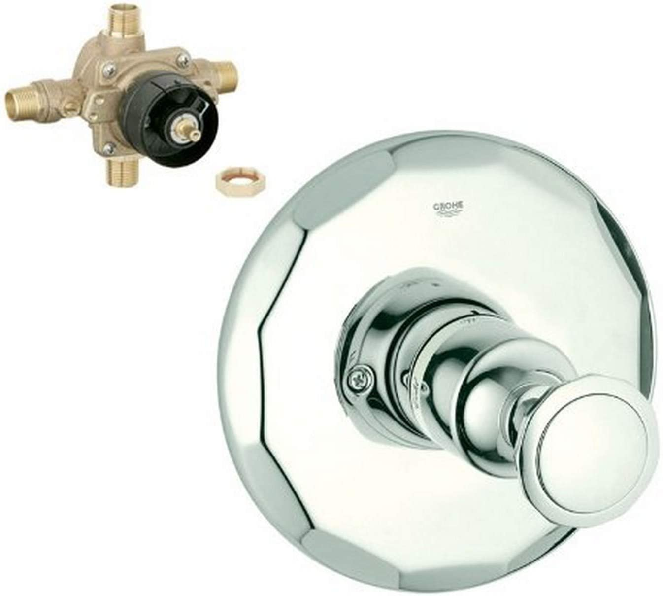 Chrome Grohe K19268-35015R-000 Kensington Tub and Shower Valve Kit