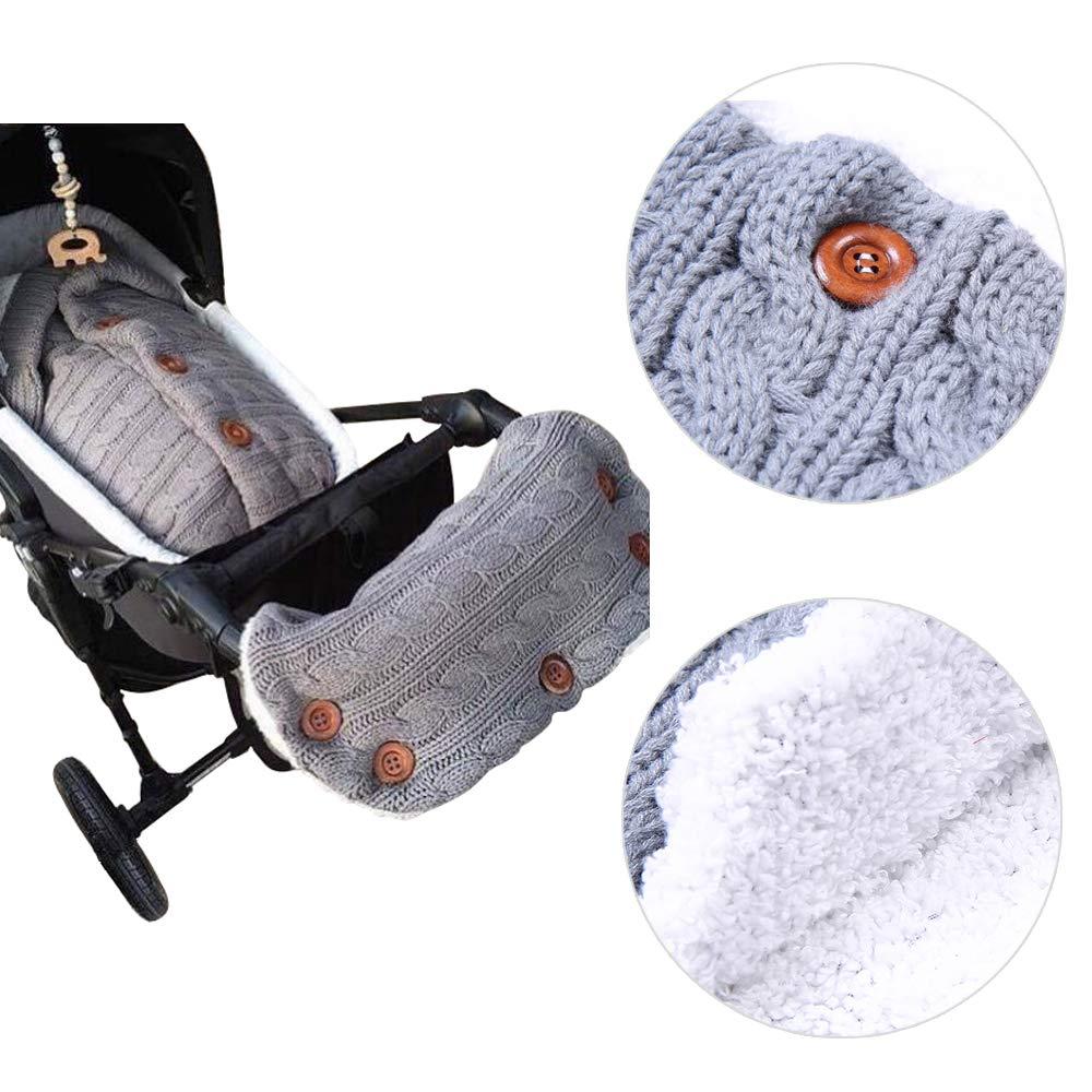 Amazon.com: 2PCS Baby Fleece Blanket Swaddle with Stroller Hand Muff Hands Warmer,Baby Stroller Sleeping Bag Sleep Sack Blanket with Hand Warmer Glove Wrap ...