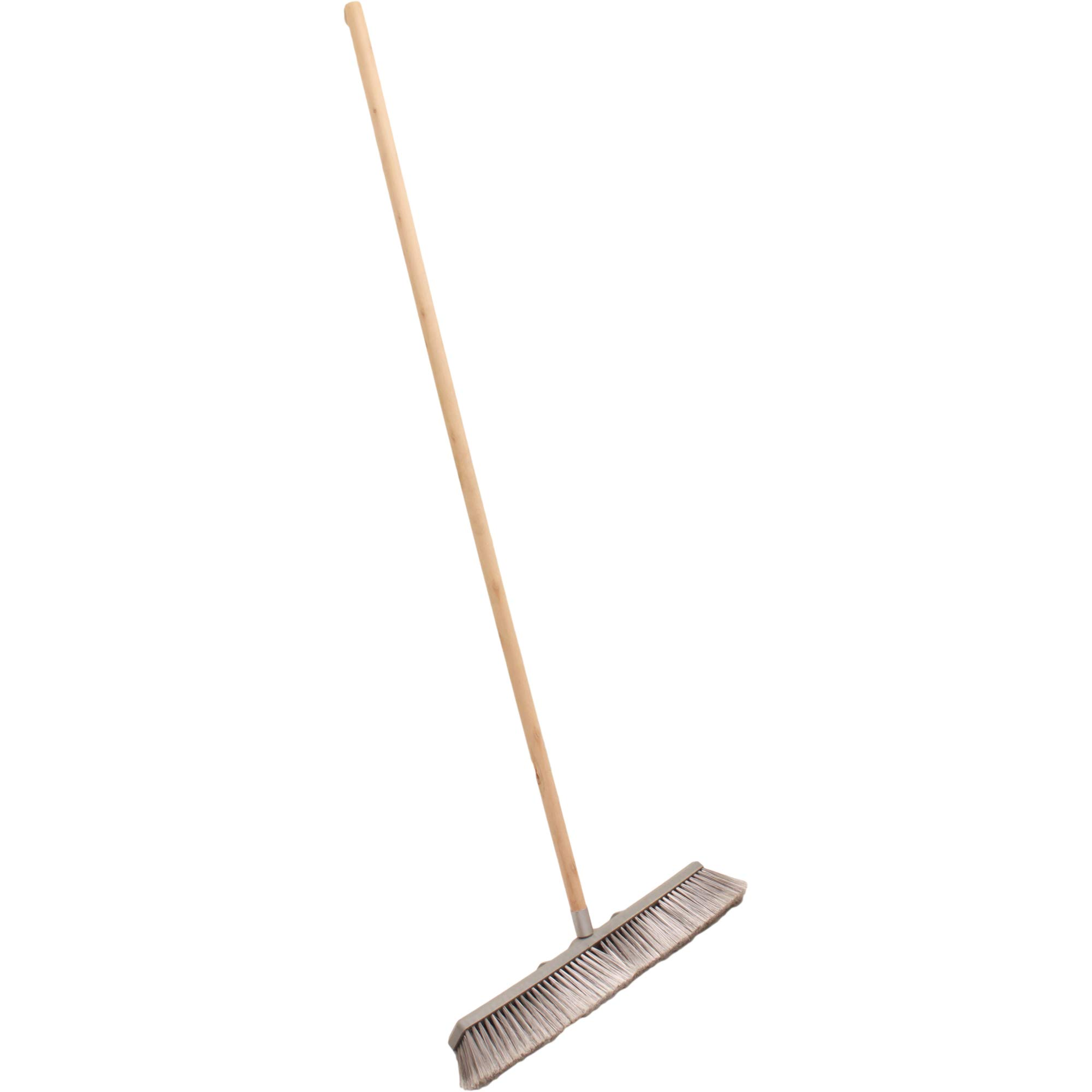 Professional Commercial Multi Surface Heavy Duty Industrial Push Broom Rough Surface Sweeper Brush With Stiff Bristles & Steel Wire Insert Warehouse & Contractors, Lawn & Garden, Indoor&Outdoor (Gray) by Unique Imports (Image #4)