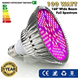 Cheap ZOTRON Real Grow Light 100W, New Generation Growing LED Light Bulbs for Greenhouse, Indoor Plants and Hydroponic Garden, Full Spectrum Growing Lamps 160 Degree Wide Area Coverage