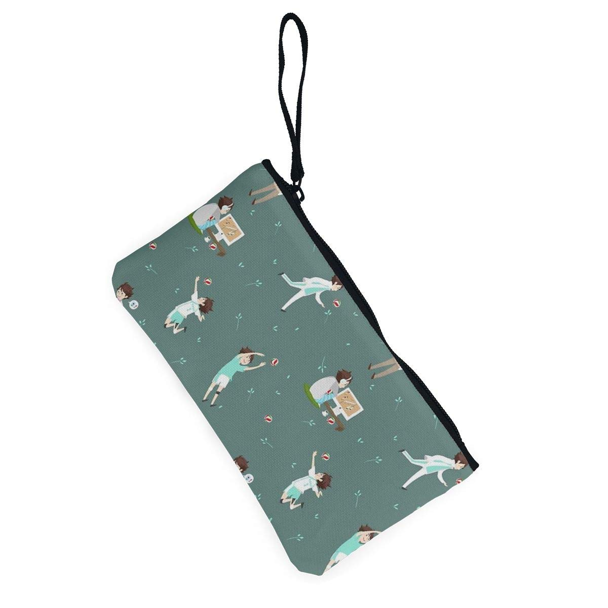 Green Cute Looking Coin Purse Small and Exquisite Going Out to Carry Purse Yamini Oikawa Tooru Pattern