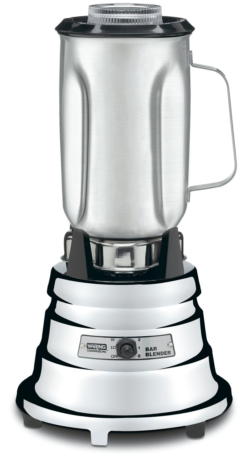 Waring Commercial BB900S 1/2 HP Chrome Bar Blender with 32-Ounce Stainless Steel Container, 1-Quart