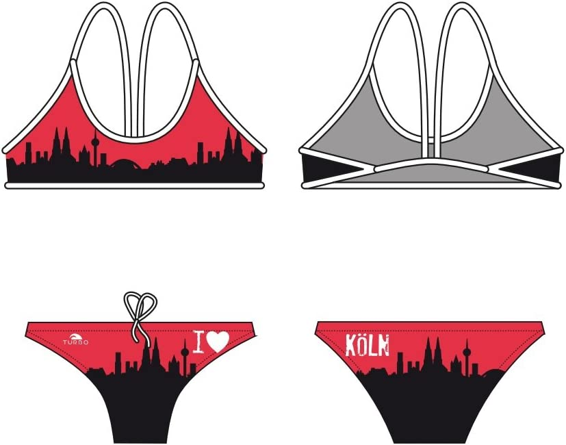 Turbo Power Natación de Bikini Set Köln swimkini Thin Strap para ...