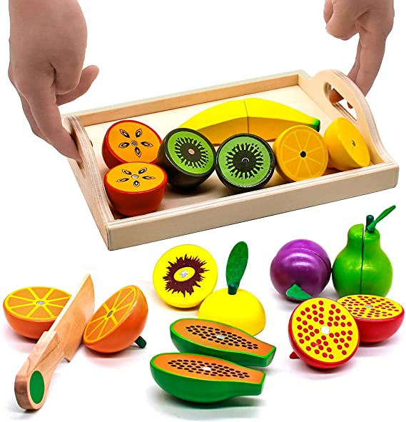 13 Pièces Fruits Alimentaire de Simulation Jeux d/'imitation de Cuisine Jouet