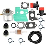 Butom 790120 Carburetor with Fuel Line Filter Primer Bulb for Briggs and Stratton 121602 120682 499617 499974 692648 693909 694202 Lawn Mowe