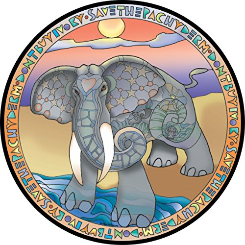 Pachyderm Elephant Spare Tire Cover for Jeep RV Camper VW Trailer etc(Select popular sizes from drop down menu or contact us-ALL SIZES AVAILABLE)